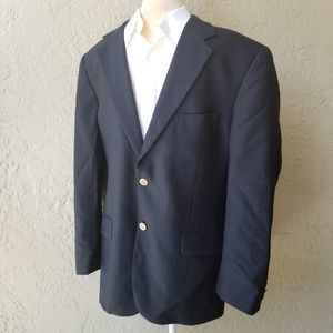 Club Room Macy's 100% Wool Navy Blue Sports Coat